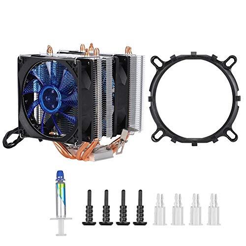Hebrew Ventilador de refrigeración hidráulico, Ventilador de computadora de Alta eficiencia Escalonado de Doble Fila Estable sin Ruido, hogar para computadora de Oficina de Escritorio