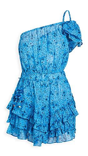 Poupette St Barth Women's Kaia Mini Dress, Blue Watercolor, X-Small