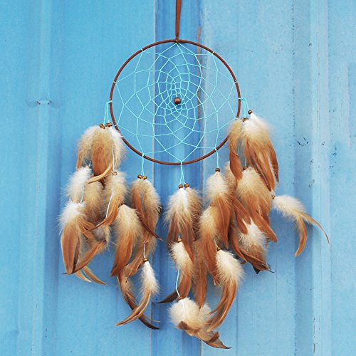 Artilady 8inch unique brown dream catcher wall decoration