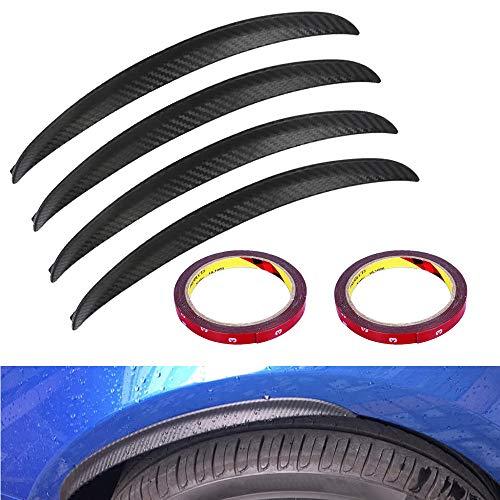 WANYIG Kotflügelverbreiterung Universal Kotflügel Verbreiterung Carbon 33CM Radlaufleiste Auto Radlaufverbreiterung Verbreiterung Auto Rad Schutz Dekoration (4 Stück)