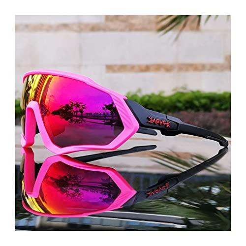 Occhiali da sole 6 lenti fotocromatiche polarizzate ciclismo occhiali 2021 uomini donne bici occhiali sport MTB bicicletta corsa equitazione occhiali occhiali (colore: C1) (C14)