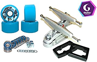 Glutier Set up Surfskate Trucks T12 70mm 80a Blue...