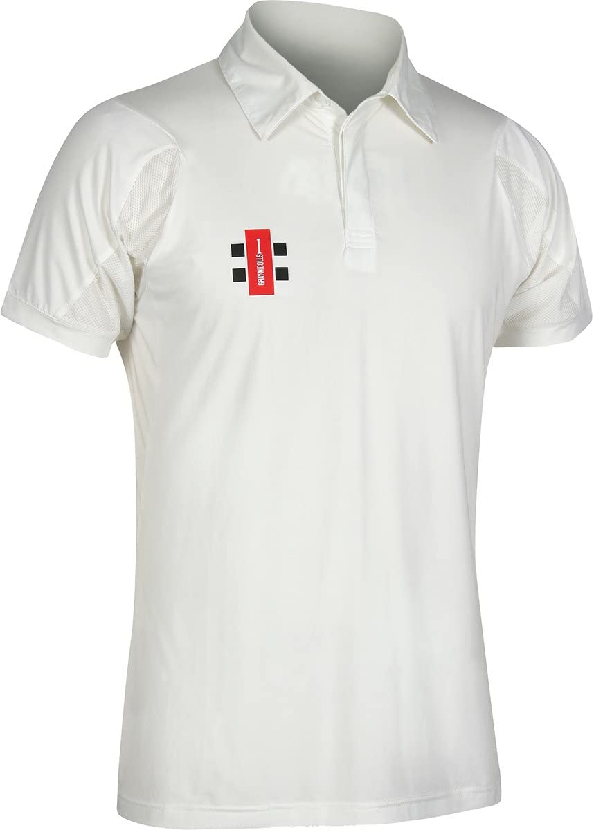 Gray Nicolls Short [Alternative dealer] Sleeves Velocity Cricket Ivory Colorado Springs Mall Shirt Sports