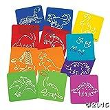 Dozen Plastic Dinosaur Stencils (Original Version)