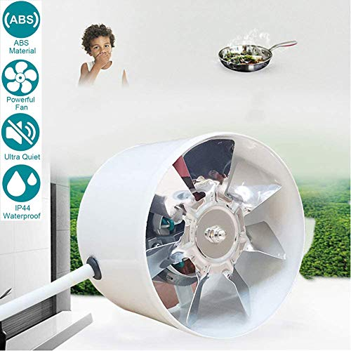 150mm/6inch Silenziosa Bagno Cucina Aspiratore Estrazione Ventilazione Motore a fili di rame Ventola di scarico potente silenziosa, Volume d'aria: 780m³ / h