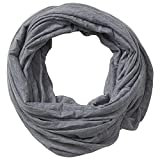 Tickled Pink womens Classic Solid Color Soft Lightweight Everyday Infinity Scarf, Gray, 31x31 Loop US