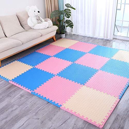 Sala de Espuma de Piso Sala de Estar Niños Playmat 's Habitación de Cama Emisión de Espuma Suave Tejas (Color: T) Peng (Color : C)