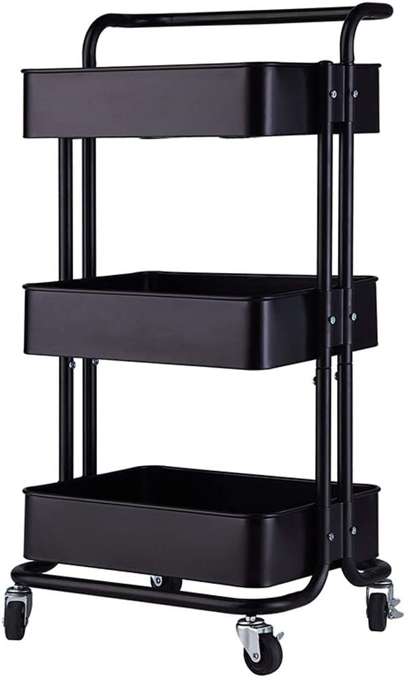 wjvnbah Rack Home Charlotte Mall Kitchen Storage Utility Cart with Max 53% OFF Ha ,3-Tier