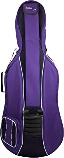 Tom & Will 41VC12-615 Cello Gig Bag Classic Series in Purple with Black Trim, 1/2 Size