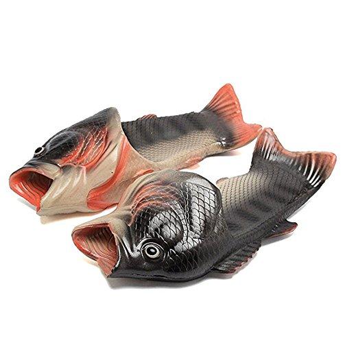 kelee Fisch Tier Hausschuhe Sommer Strand Sandalen Dusche Hausschuhe Rutschfeste Strand Schuhe Tragen für Frauen Männer und Kinder Casual Schuh 42 EU 2:silber