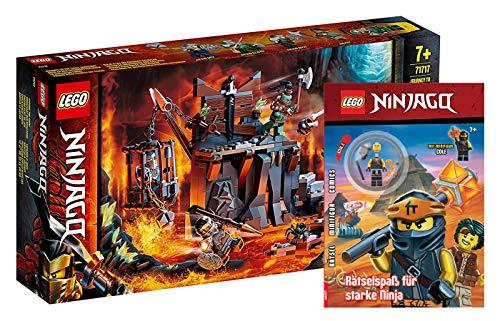 Lego Ninjago - Set: 71717 Reise zu den Totenkopfverliesen + Rätselspaß für Starke Ninja mit Minifigur Cole (Softcover)