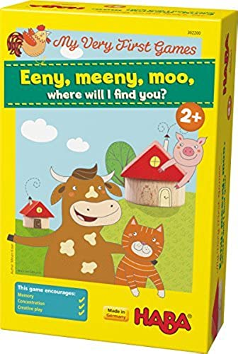 tienda de descuento HABA My Very First First First Games - Eeny Meeny Moo - Two Amusing Memory Games for Ages 2 and Up (Made in Germany) by HABA  autorización oficial