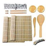 Olymajy Strumento di Sushi, Sushi Maker, Kit per sushi da 11 pezzi per principianti, set di strumenti per sushi con tappetini per sushi, bacchette, piatti per salsa, spatola per sushi e altri