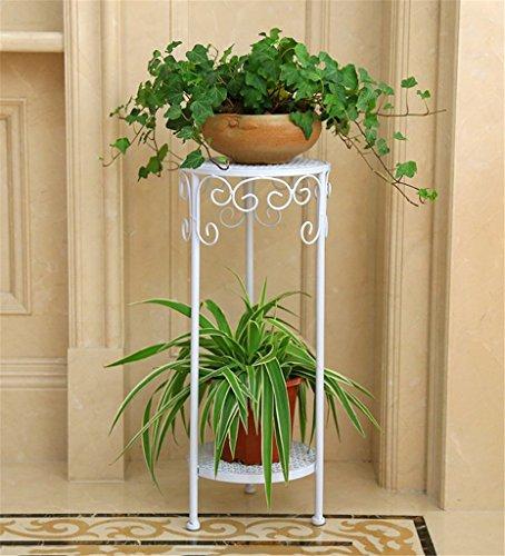 LIANLIAN Étagère de fleur de fer de style européen étagère de fleur de plancher de Multi-étages de plancher/étagère de pot de fleur Echelle à fleurs (Couleur : A, taille : 60 cm)