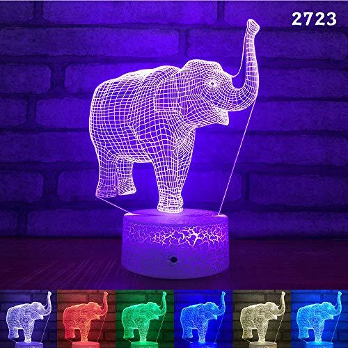Sproud Elephant Lava Bottom + buntes Touch 3D Nachtlicht |LED-Täuschungslampe |Schreibtischlampe |für Kindergeburtstags-Weihnachtsgeschenke
