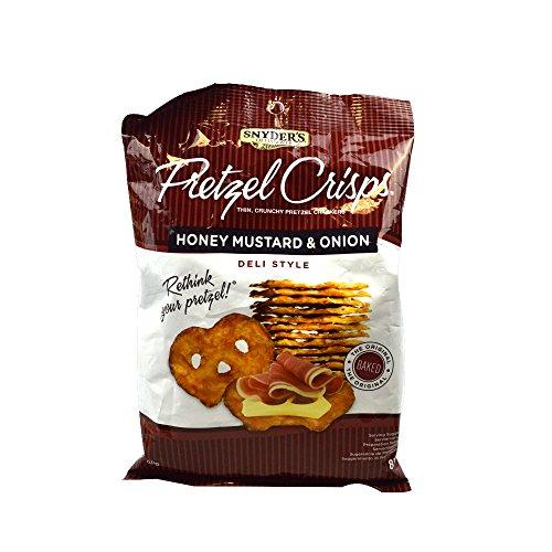 Snyder's - Pretzel Crisps - Honey Mustard & Onion Deli Style -...