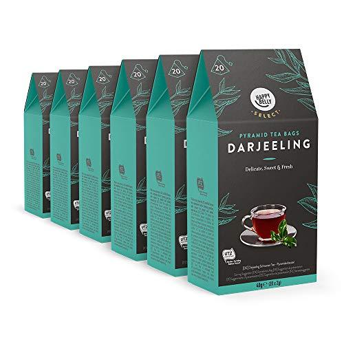 Marca Amazon – Happy Belly Select Bolsitas de té negro Darjeeling, 6x20pirámides