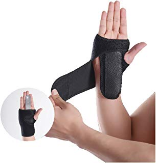 Wrist Brace Wrist Support Removable splint Martial Arts, Tennis, Bike, and Motorcycle, Prevention Wrist Injury, Carpal Tunnel Syndrome, Wrist Pain One size fits most -Black (Right)