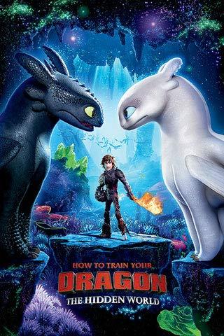empireposter Dragons - Drachenzähmen leicht gemacht 2, How to Train Your Dragon 2 - Toothless Cute - Poster Plakat - Größe 61x91,5 cm + 1 Packung tesa Powerstrips® - Inhalt 20 Stück