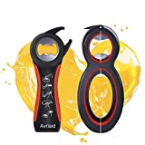 All in One Bottle Opener, Can, Soda, and Jar Openers, Twist Off Lid – Jar Opener for Seniors and Arthritic Hands, Seniors with Arthritis, Hand Weakness (2 pack)