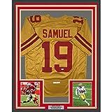 Framed Autographed/Signed Deebo Samuel 33x42 San Francisco Gold Football Jersey JSA COA