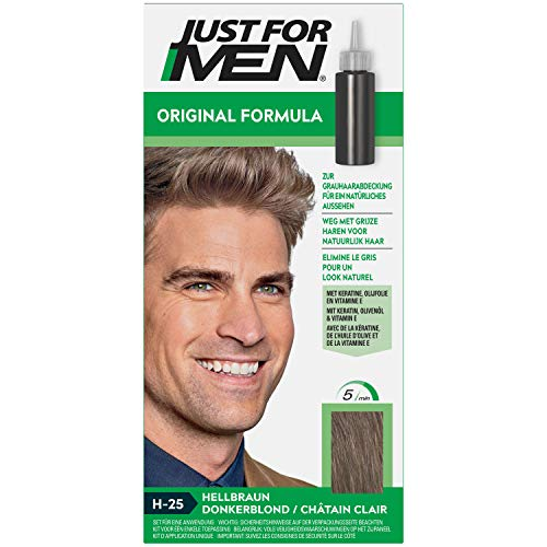 Just For Men Formule Originale Coloration Cheveux Châtain Clair, Restaure La Couleur Originale Pour Un Look Naturel – H25
