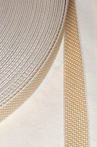5 m Rolle stabil Rolladengurt - beige - Breite 23 mm - extra stark - hohe Reißfestigkeit - UV Beständigkeit - Schmutzunempfindlichkeit - beste Scheuerfestigkeit - Reißfestikeit: 420 kg