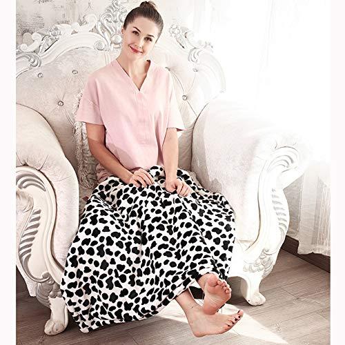 JZWX verwarmingsdeken, warm-up deken, kantoor-voetenwarmer Artefakt, 5 temperatuurinstellingen met 1 uur auto-off, wit