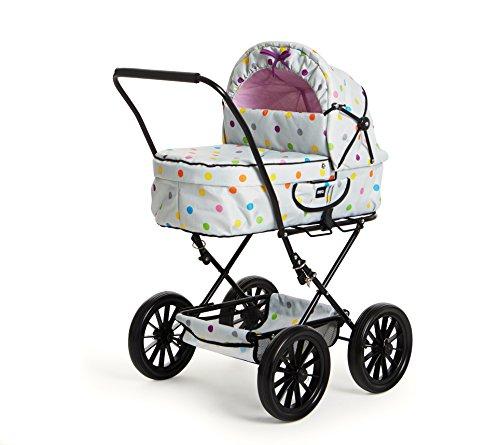 BRIO 00002 - Puppenwagen Klassik, grau mit Punkten