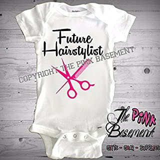 7aecab445 HANDMADE Babies Onesies Future Hairstylist Pink Boys Girls funny Baby  Clothes Clothing kids Unisex Newborn Infant