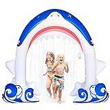 DXQDXQ Agua Spray de Agua Inflable Arcos de Tiburón Spray de Agua para Niños Aerosol de Verano al Aire Libre Cool Play Fun Toy para Niños Adultos PVC Ecológico 180CM Juguetes