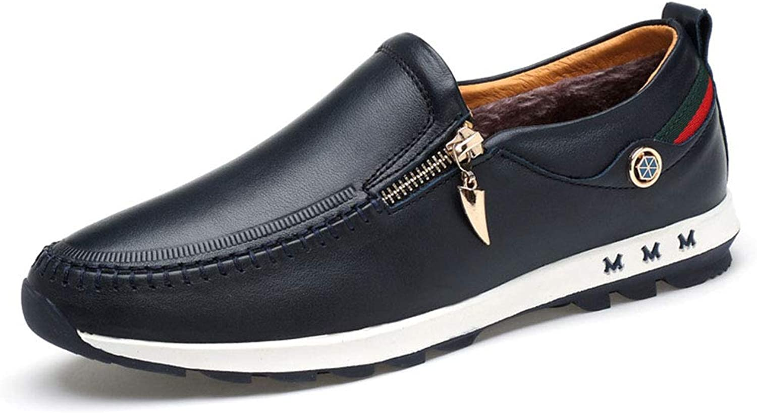 Men's Leather shoes Business Casualleather shoes Winter New Non Slip Plus Velvet Formal shoes Driving shoes,B,41