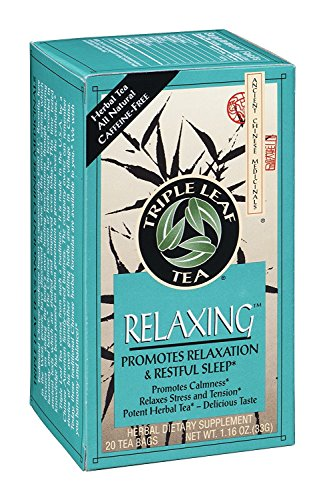 Triple Leaf Tea Relaxing Herbal Tea, 20 Tea Bags per Box (Pack of 3 Boxes)