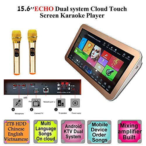 Purchase HAJURIZ 15.6'' ECHO touch screen Karaoke Player, 300W Amplifier Built.2TB HDD,40K Chinese,E...