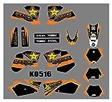 Hjunisshkm Protector de gráficos de Motocicletas Fondos de calcomanías Pegatinas Kits para KTM ECC 2004-2007 HFDYJ (Color : 15)