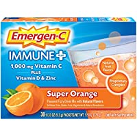 30-Count Emergen-C Super Orange Immune+ Drink Mix 0.33 Oz