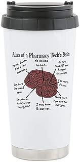 CafePress Atlas Of A Pharmacy Techs Brain Stainless Steel Travel Mug, Insulated 16 oz. Coffee Tumbler