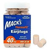 Mack's ThermaFit Soft Foam Earplugs, 40 Pair - Comfortable Ear Plugs...