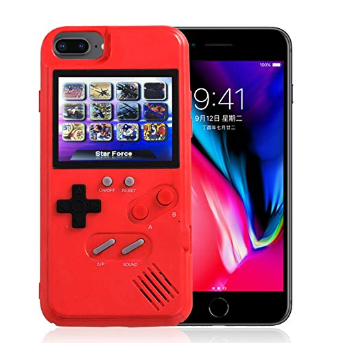 AOLVO Gameboy Case for iPhone, 3D Retro Handheld Game Console Video Game Cover Case with 36 Games, Full Color Display for iPhone Xs/X,iPhone8/8 Plus,iPhone 7/7 Plus,iPhone 6/6Plus