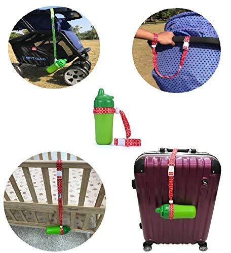 Parawin multifunzionale cinghia tracolla–anti-perso per passeggino per Sippy Cup Holder and Toys–carrozzina cinturino da polso 3pezzi