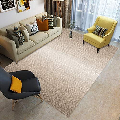 Kunsen Alfombras Resistente a la decoloración Alfombra Tinta degradada Blanca marrón diseño Simple Alfombra de Sala de Estar Grande Fácil de Limpiar Mesa de Centro alfombras 160 * 200cm
