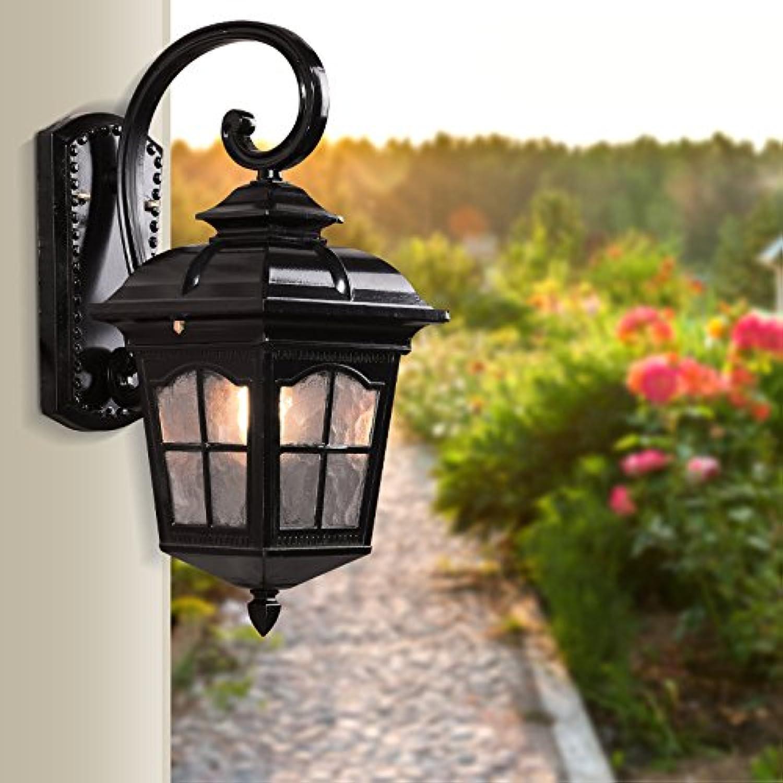 VC-europischen stil outdoor wall lamp, retro - kreative wall lamp, wasserdichte tür, korridor wall lamp, garten garten lampe,schwarz