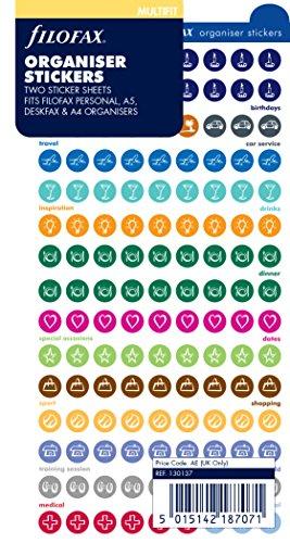 Filofax 130137 Organiser Stickers