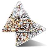 2 pegatinas triangulares de 7,5 cm – Frankfurt Alemania mapa de viaje divertidos calcomanías para portátiles, tabletas, equipaje, reserva de chatarra, nevera #45065