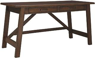 Ashley Furniture Signature Design - Baldridge Wide Leg Desk - Rustic Brown