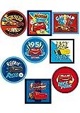 24 Parches termoadhesivos para la ropa. Apliques serigrafiados para planchar sobre camisetas, bata escolar, jeans, chaquetas. Diseño personajes Disney: Cars, Rayo McQueen - REF. 6883-U24