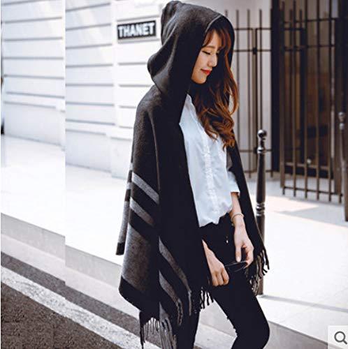 Damesmode lange sjaal met grote poncho Capes Mixa Pashmina, voor de sjaal van de trui