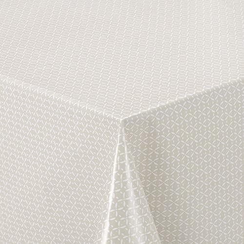 Home Direct Mantel de Hule, Rectangular 140 x 240cm, Beige
