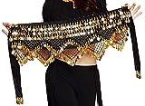 Gypsy Skirt Belly Dance Hip Scarf Dancing Dancer Women Pirate Costume Accessories Fortune Teller Headpiece Head Coins Belt