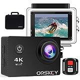 ORSKEY Action Cam 4K 16MP WIFI Unterwasserkamera Ultra HD Sport Kamera Wasserdicht Helmkamera mit...